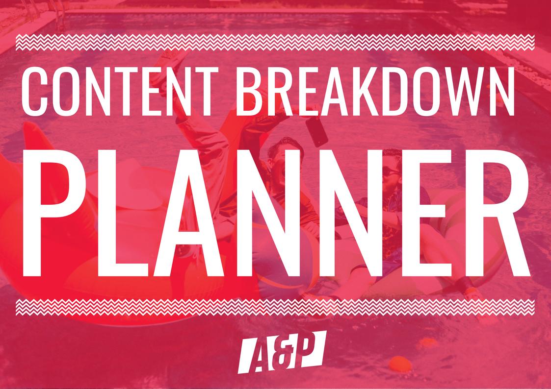 Content Breakdown Planner
