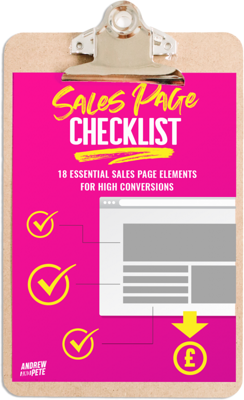 Clipboard Cover-Sales page checklist copy
